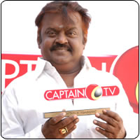 Actor Turned Politician Vijaykanth to launch his 24 hour Captain TV on April 14 2010