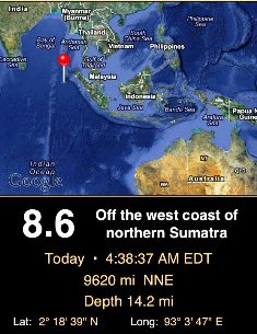 No tsunami in Chennai and India after earthquake struck Indonesia 2012